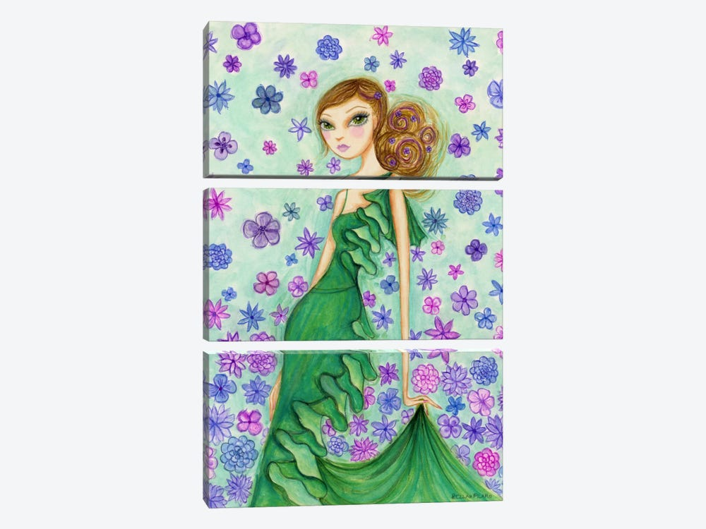 Rosalie in Ruffles by Bella Pilar 3-piece Canvas Artwork