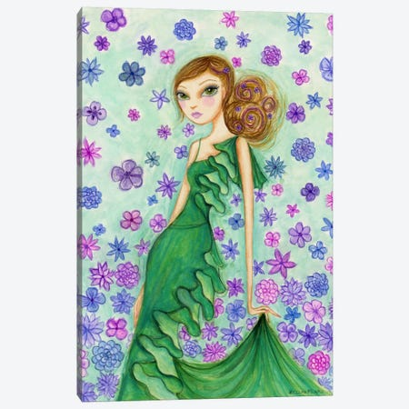 Rosalie in Ruffles Canvas Print #BPR168} by Bella Pilar Canvas Print