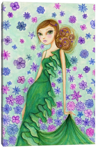 Rosalie in Ruffles Canvas Art Print