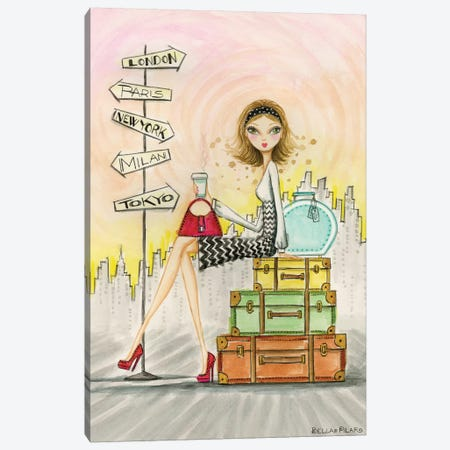 Greta On The Go Canvas Print #BPR170} by Bella Pilar Canvas Art