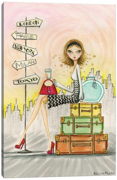 Greta On The Go Canvas Art Print