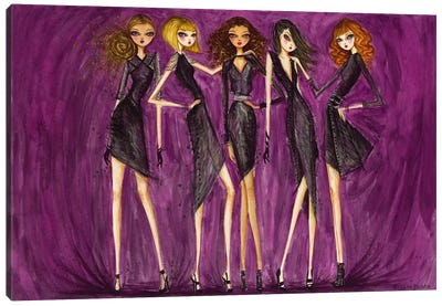 Model Behavior #3 Canvas Art Print