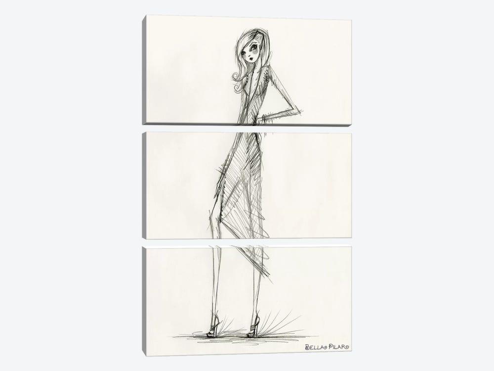 Model Behavior #6 by Bella Pilar 3-piece Canvas Wall Art