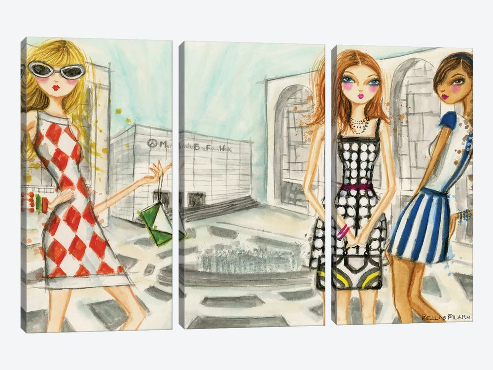 Runway Royalty by Bella Pilar 3-piece Canvas Wall Art