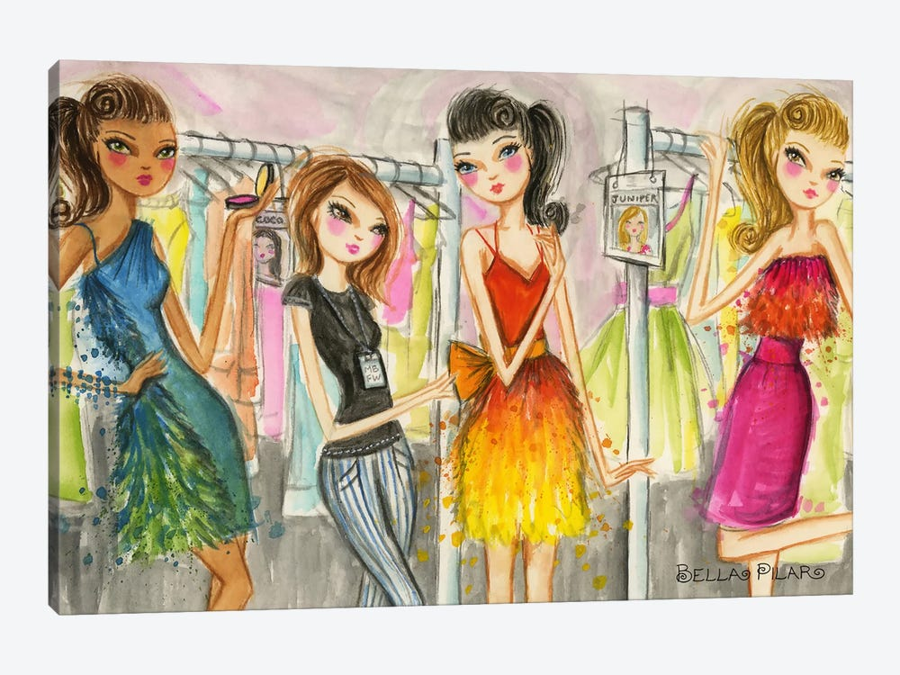 Runway Royalty #3 by Bella Pilar 1-piece Canvas Art