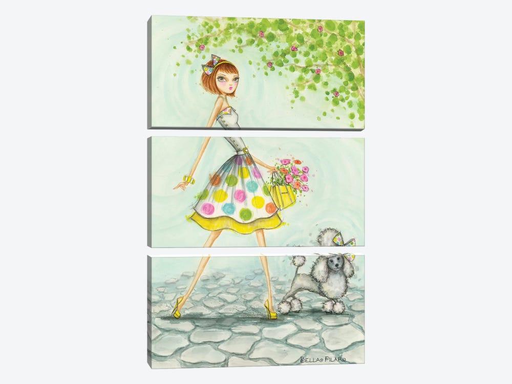 Samaya and Sunshine by Bella Pilar 3-piece Canvas Artwork