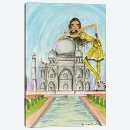 See The Sights: Agra Canvas Print #BPR192} by Bella Pilar Canvas Artwork