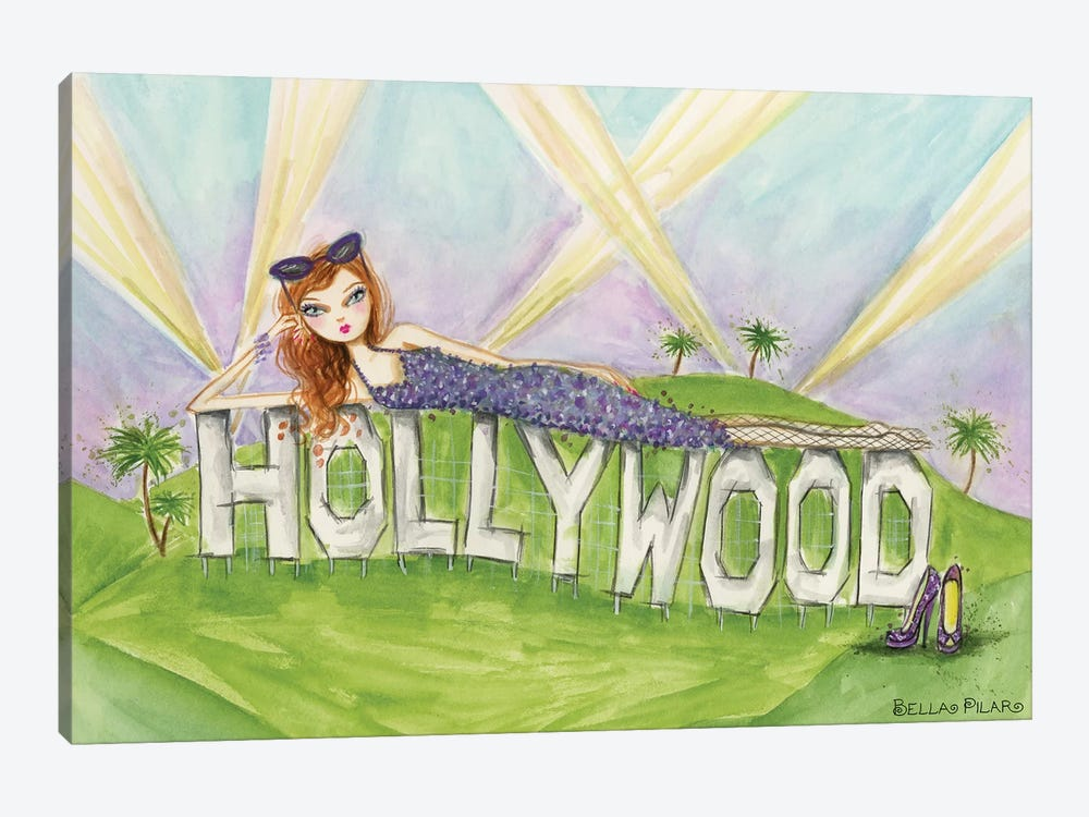 See The Sights: Hollywood by Bella Pilar 1-piece Canvas Artwork