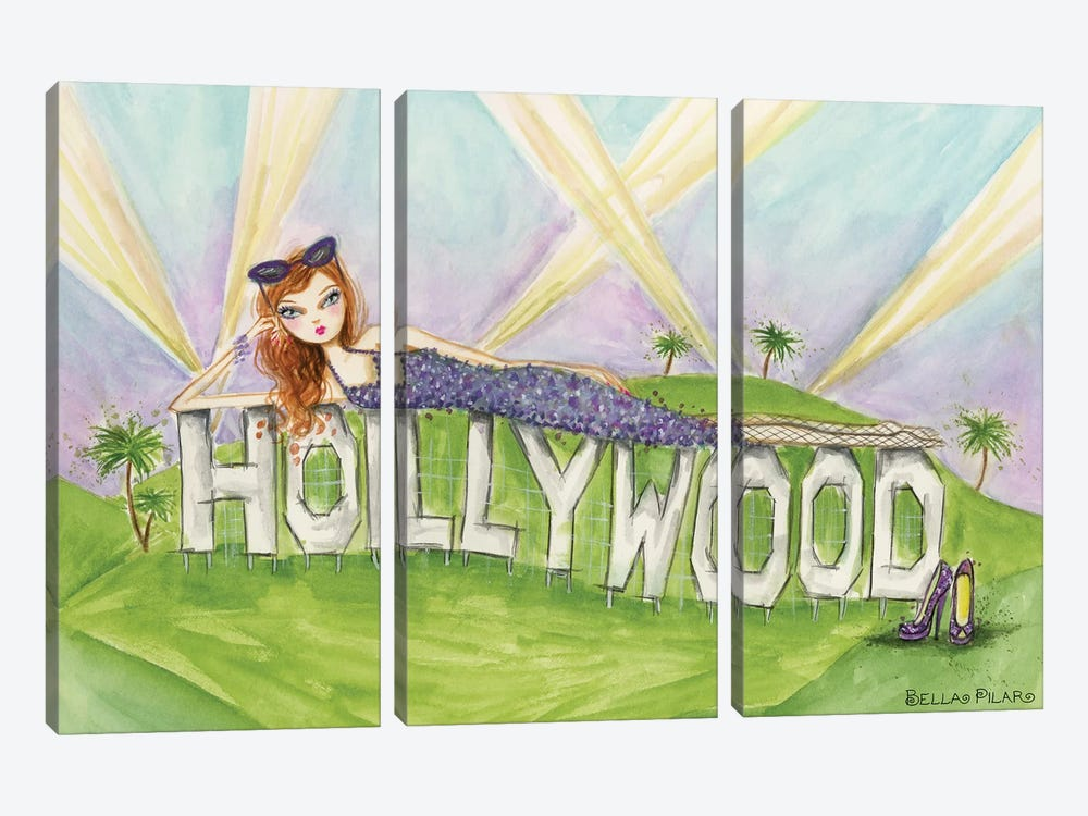 See The Sights: Hollywood by Bella Pilar 3-piece Canvas Artwork