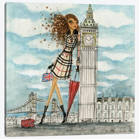 See The Sights: London Canvas Print #BPR194} by Bella Pilar Art Print