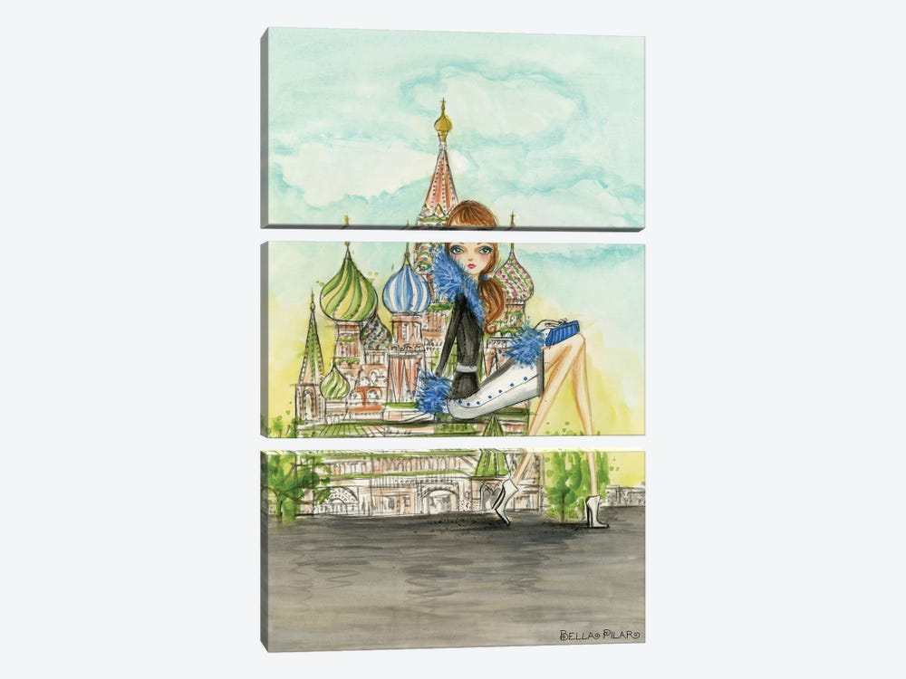 See The Sights: Moscow by Bella Pilar 3-piece Canvas Artwork
