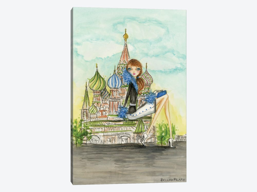 Moscow by Bella Pilar 1-piece Canvas Wall Art