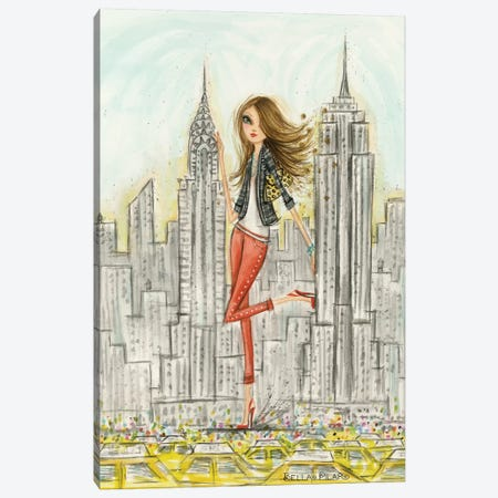 See The Sights: New York Canvas Print #BPR196} by Bella Pilar Canvas Art Print