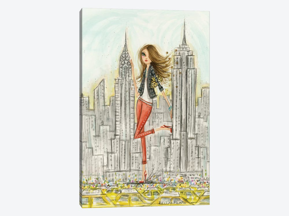 New York by Bella Pilar 1-piece Canvas Art Print