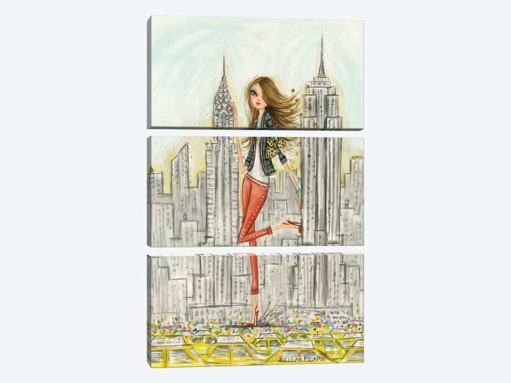 New York by Bella Pilar 3-piece Canvas Print