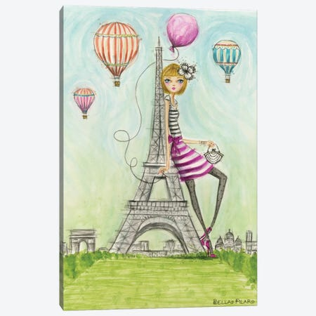 See The Sights: Paris Canvas Print #BPR197} by Bella Pilar Art Print