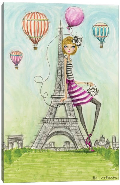 See The Sights: Paris Canvas Art Print
