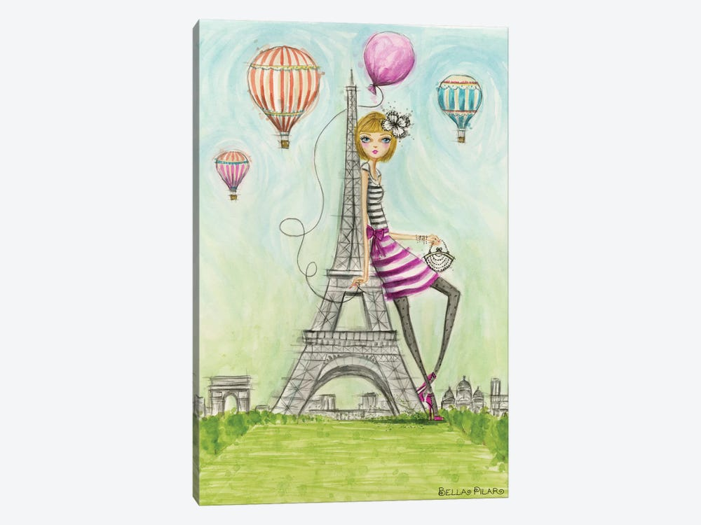 See The Sights: Paris by Bella Pilar 1-piece Canvas Artwork