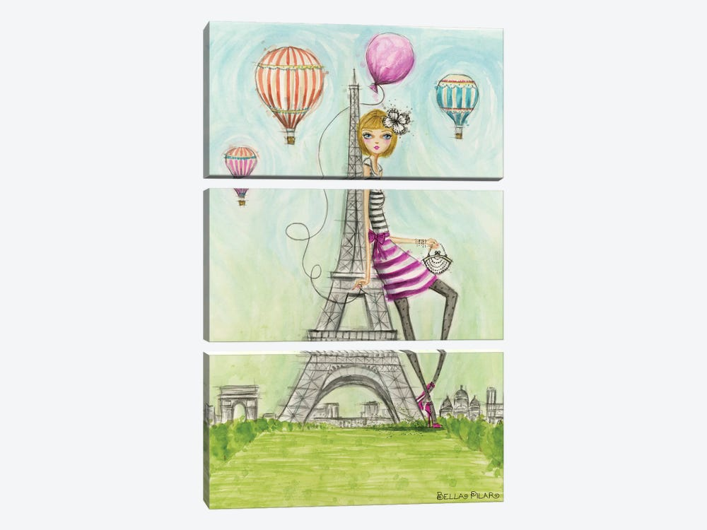 See The Sights: Paris by Bella Pilar 3-piece Canvas Art