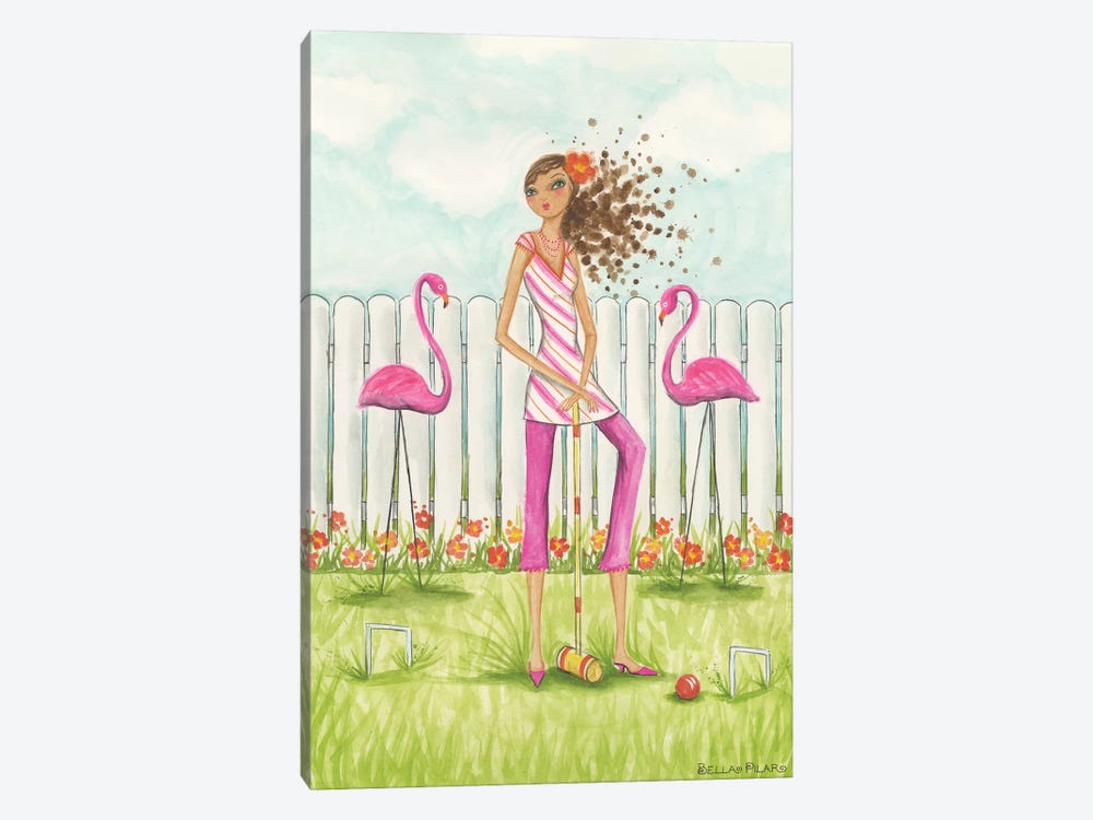 Backyard Games by Bella Pilar 1-piece Canvas Artwork
