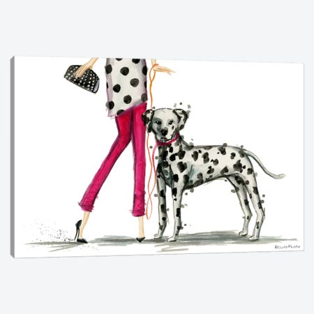 Girls Best Friend, Darla and her Dalmatian Canvas Print #BPR1} by Bella Pilar Canvas Print