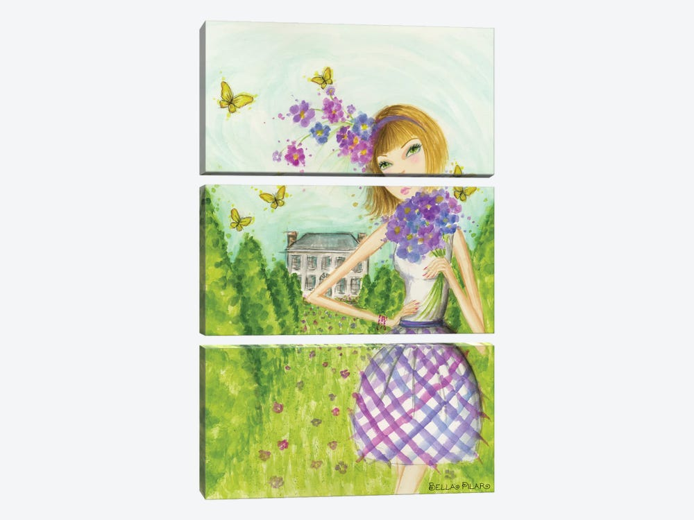 Springtime at Summerside #2 by Bella Pilar 3-piece Canvas Artwork