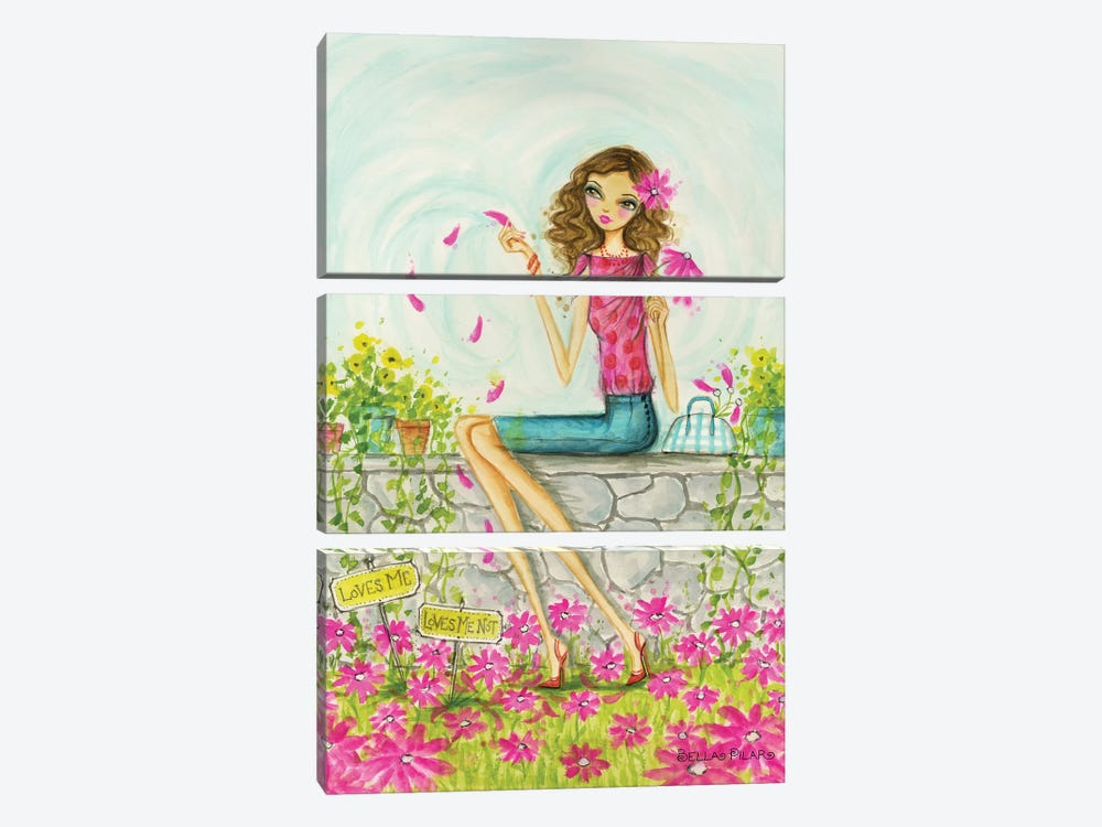 Springtime at Summerside #4 by Bella Pilar 3-piece Canvas Artwork