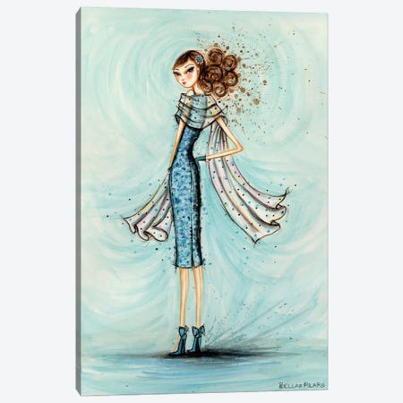 Starlet in Blue Canvas Print #BPR203} by Bella Pilar Canvas Art