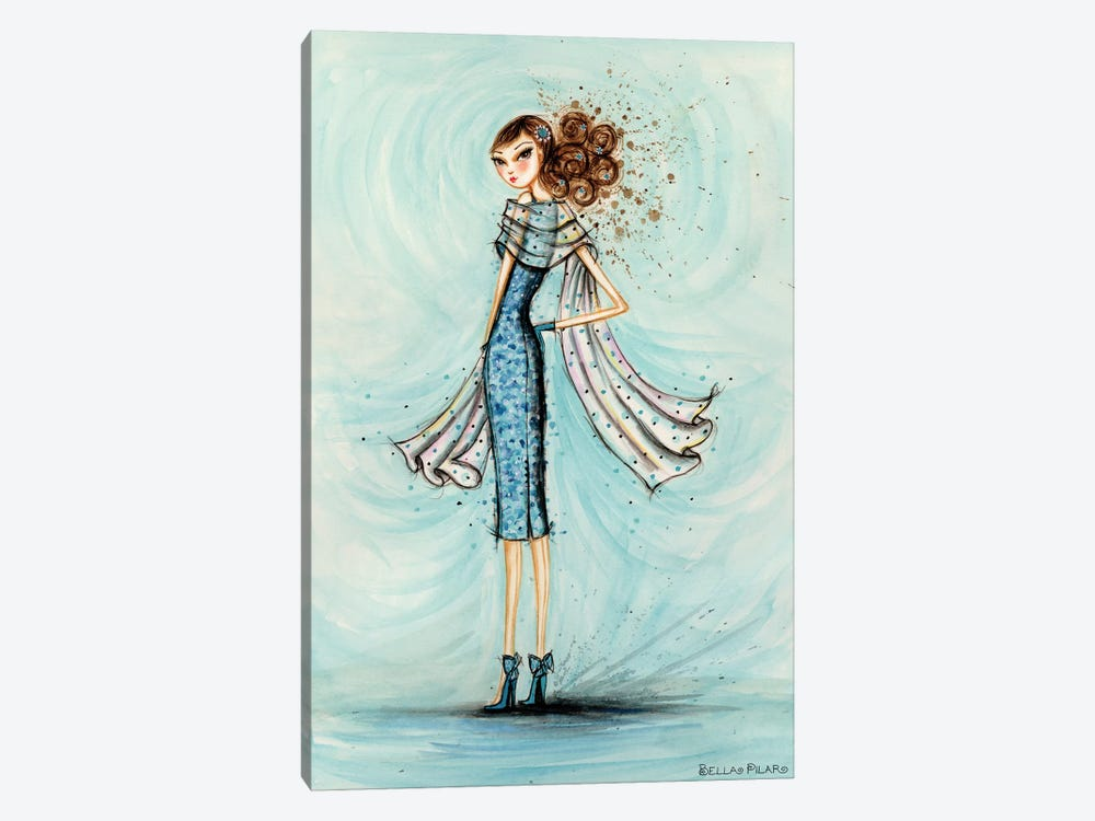 Starlet in Blue by Bella Pilar 1-piece Art Print