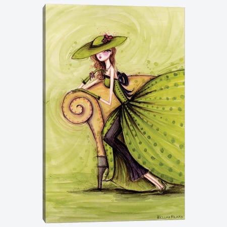 Starlet in Green Canvas Print #BPR204} by Bella Pilar Canvas Art Print