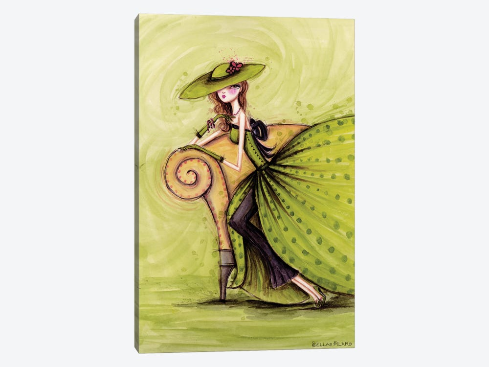 Starlet in Green by Bella Pilar 1-piece Canvas Wall Art