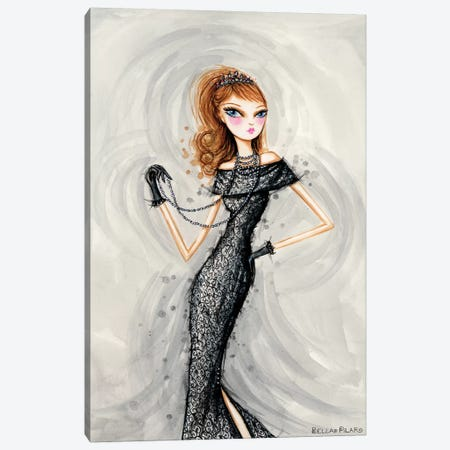 Starlet in Midnight Canvas Print #BPR206} by Bella Pilar Art Print
