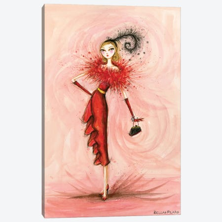 Starlet in Red Canvas Print #BPR207} by Bella Pilar Art Print