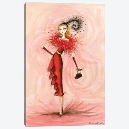 Starlet in Red Canvas Print #BPR207} by Bella Pilar Art Print