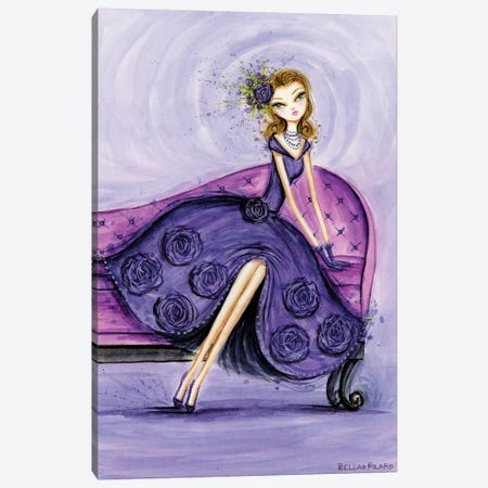 Starlet in Violet Canvas Print #BPR208} by Bella Pilar Canvas Artwork