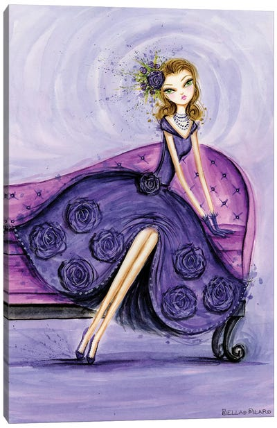 Starlet in Violet Canvas Art Print