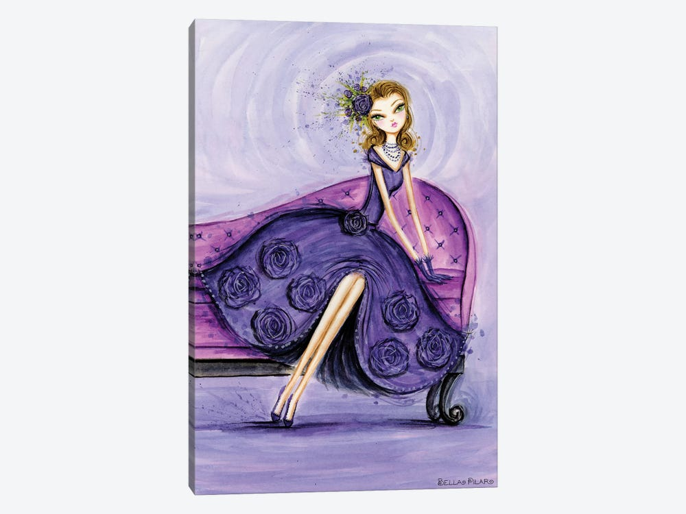 Starlet in Violet by Bella Pilar 1-piece Canvas Art