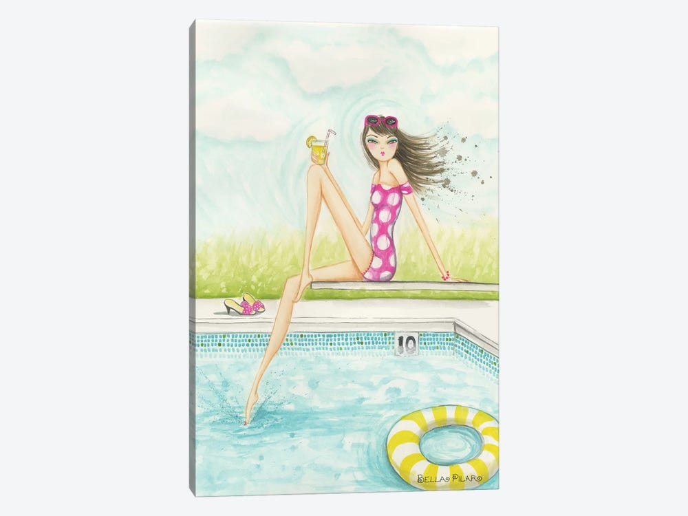 Backyard Pool by Bella Pilar 1-piece Canvas Wall Art
