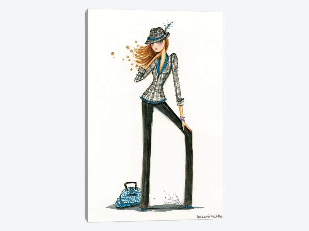 Fedora by Bella Pilar 1-piece Canvas Art