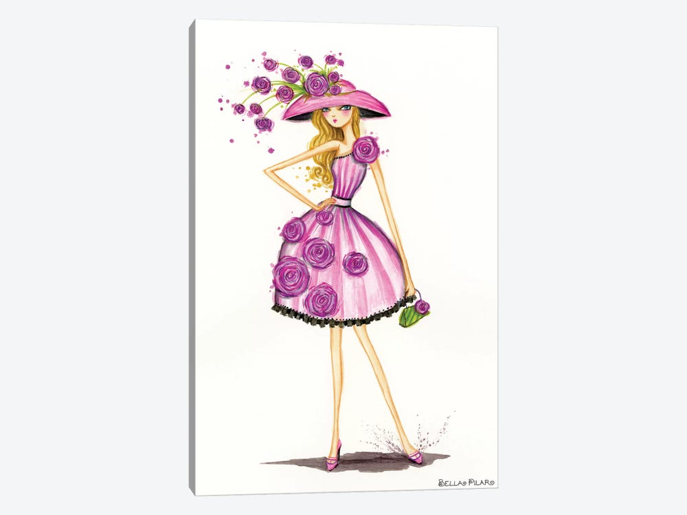 Garden Hat by Bella Pilar 1-piece Canvas Print