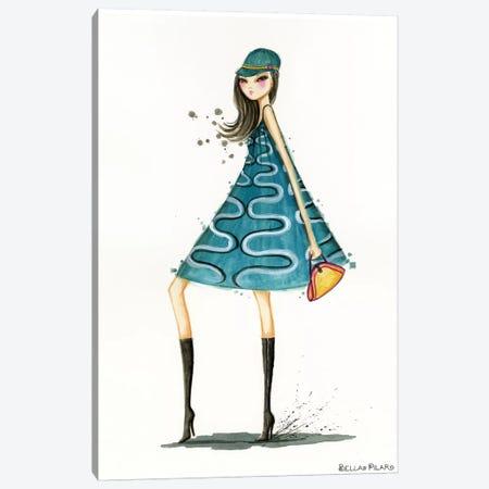 Mod Hat Canvas Print #BPR215} by Bella Pilar Canvas Art