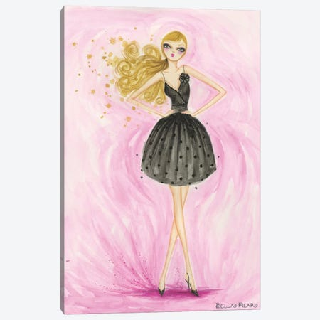 Little Black Dress Lula Canvas Print #BPR21} by Bella Pilar Canvas Wall Art