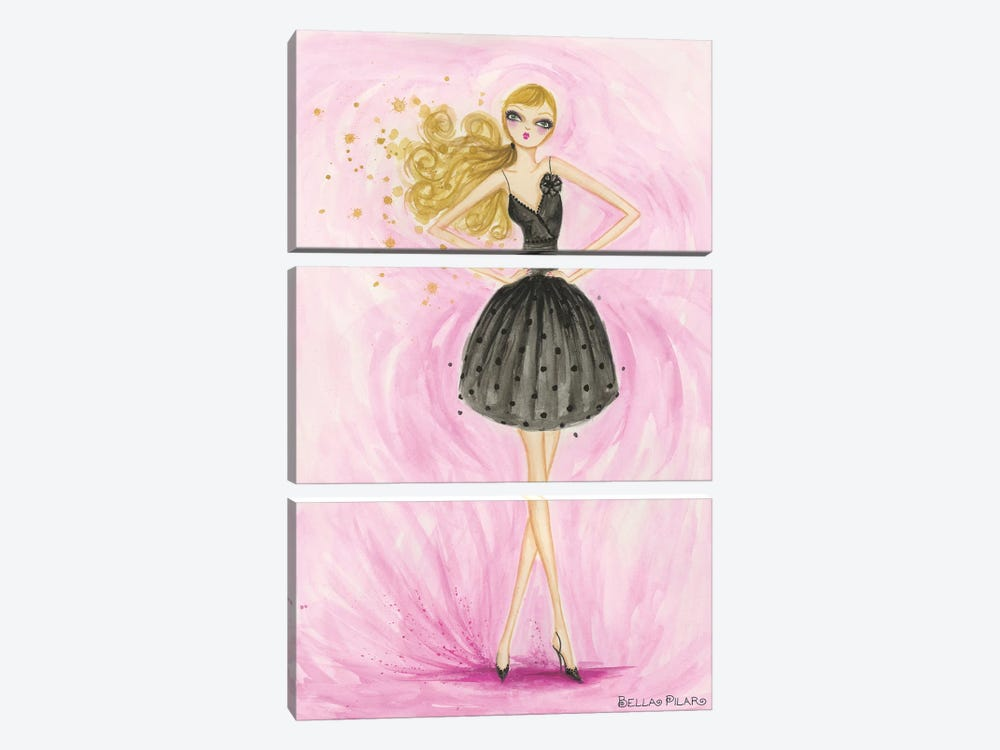 Little Black Dress Lula by Bella Pilar 3-piece Canvas Print