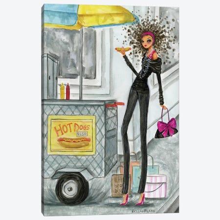 NYC Hot Dog Canvas Print #BPR220} by Bella Pilar Canvas Wall Art