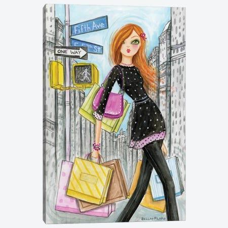 NYC Shopping Fifth Canvas Print #BPR221} by Bella Pilar Canvas Wall Art