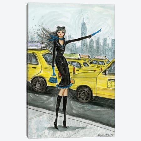 NYC Taxi #1 Canvas Print #BPR223} by Bella Pilar Canvas Artwork