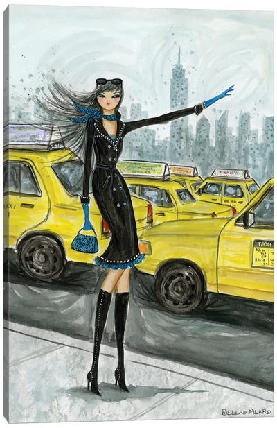 NYC Taxi #1 Canvas Art Print