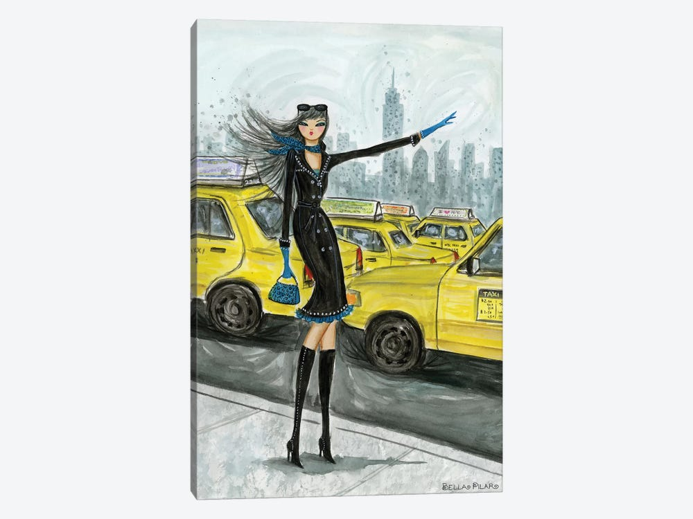 NYC Taxi #1 by Bella Pilar 1-piece Canvas Print