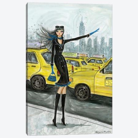 NYC Taxi #1 Canvas Print #BPR223} by Bella Pilar Canvas Artwork