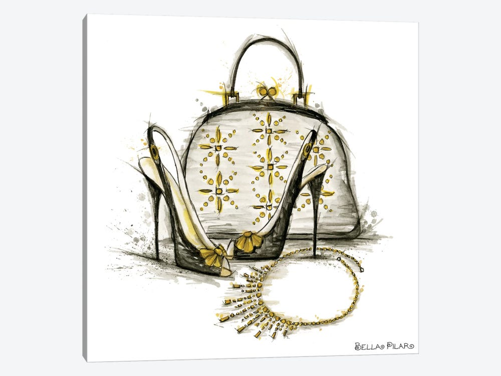 All Dressed Up Series: Shelly's Accessories by Bella Pilar 1-piece Canvas Artwork